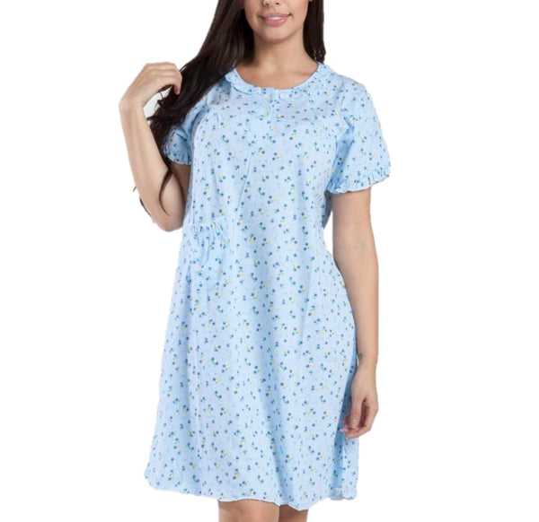 MAGIC CURVES 100% COTTON FLORAL NIGHTGOWN