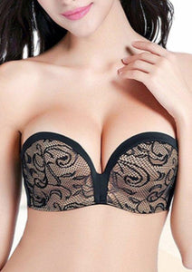 MAX CLEAVAGE ADD 2 CUP SIZE STRAPLESS CONVRTIBLE POWER PUSH UP BRA