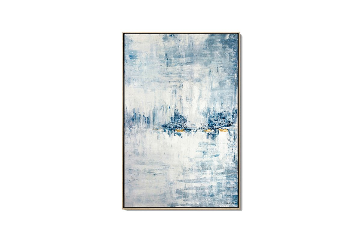 ICE BARRIER, Abstract Oil Paintings - Luvurwall