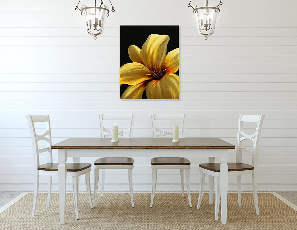 Luvurwall Yellow Flower Metal Wall Art, Metal Wall Art - Luvurwall