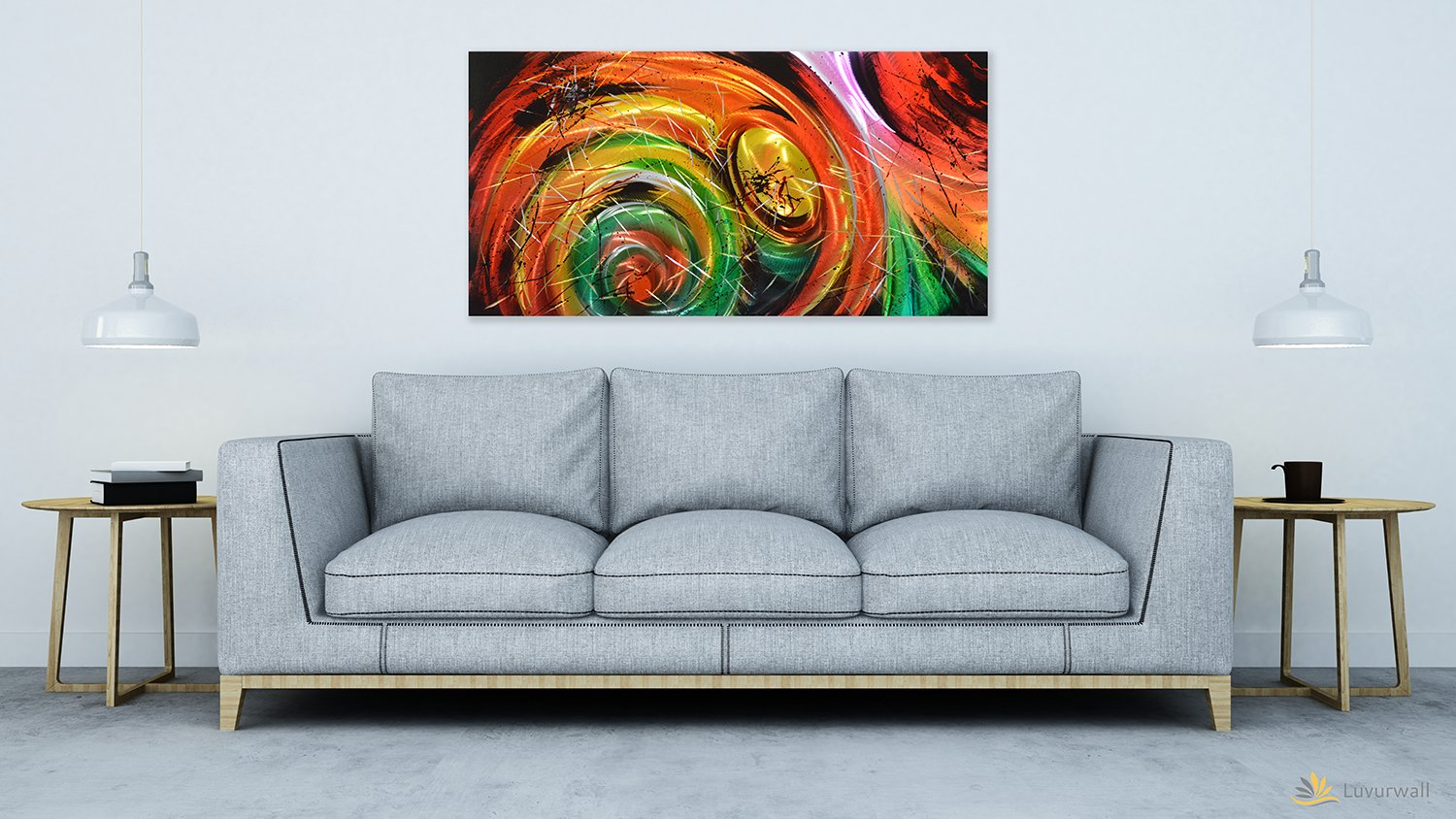 Luvurwall Circular Abstract Metal Wall Art, Metal Wall Art - Luvurwall