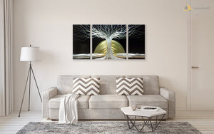 Luvurwall 3 Panel Abstract Metal Wall Art, Metal Wall Art - Luvurwall