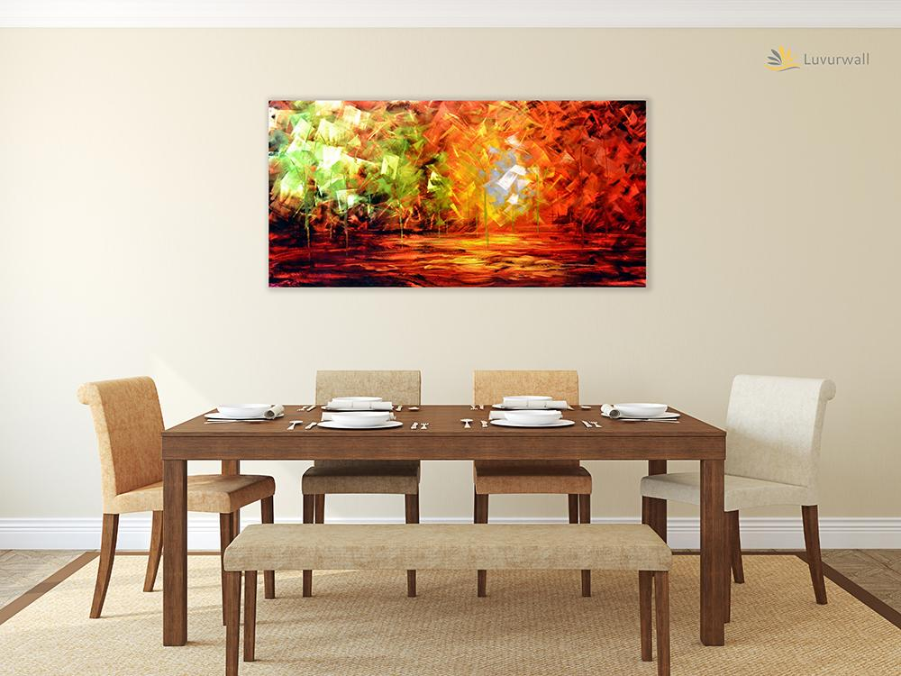 Luvurwall Colorful Trees Metal Wall Art, Metal Wall Art - Luvurwall