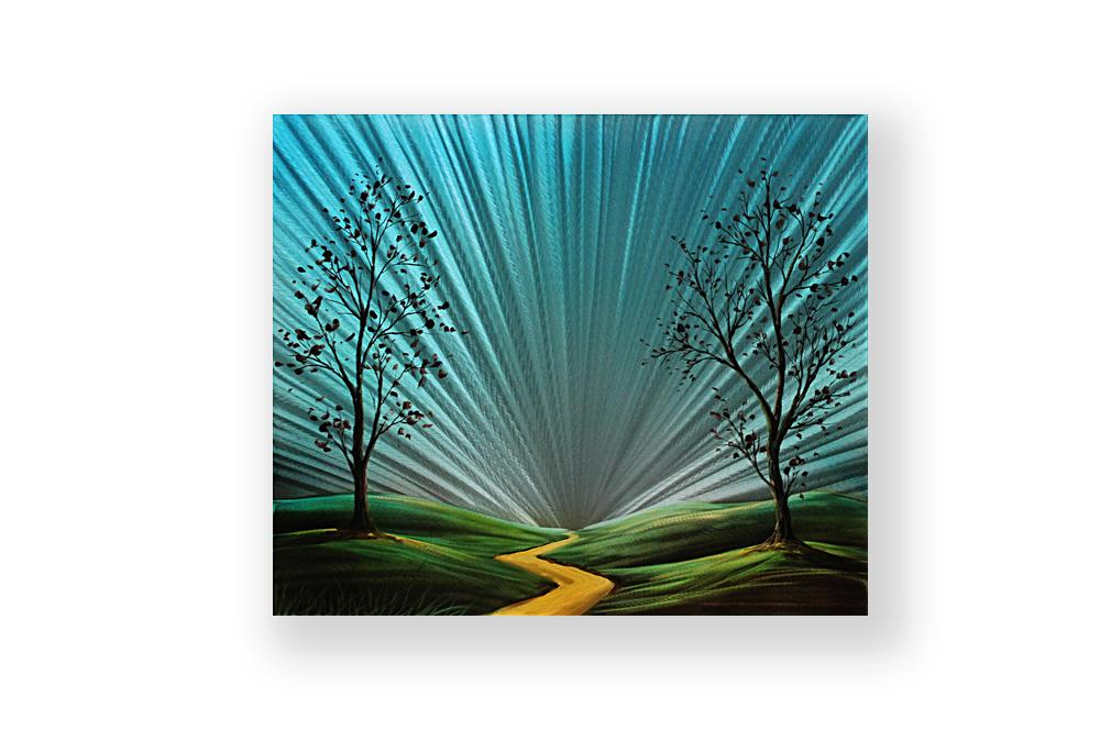 Luvurwall Tiny Road Metal Wall Art, Metal Wall Art - Luvurwall