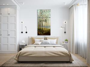 Luvurwall 3 Panel Trees Metal Wall Art, Metal Wall Art - Luvurwall