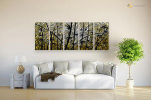 Luvurwall Bamboo Tree Metal Wall Art, Metal Wall Art - Luvurwall