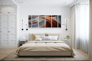 Luvurwall Brown Abstract Metal Wall Art, Metal Wall Art - Luvurwall
