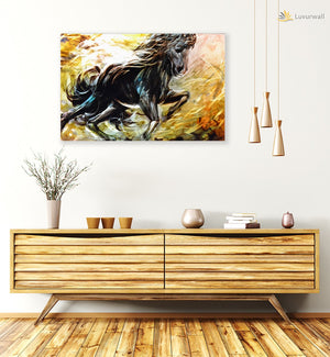 Luvurwall Horse Design Metal Wall Art, Metal Wall Art - Luvurwall