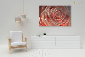 Luvurwall Red Rose Portrait Metal Wall Art, Metal Wall Art - Luvurwall