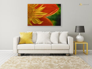 Luvurwall Sunflower Metal Wall Art, Metal Wall Art - Luvurwall