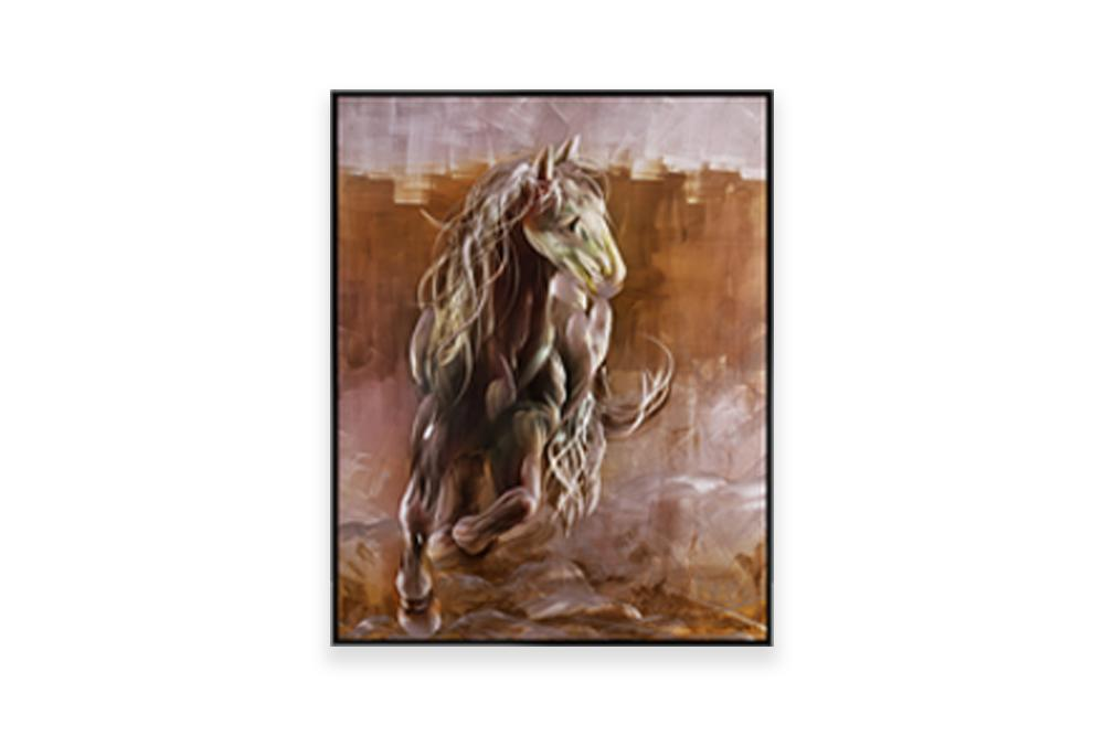 Luvurwall Brown Horse Metal Wall Art, Metal Wall Art - Luvurwall