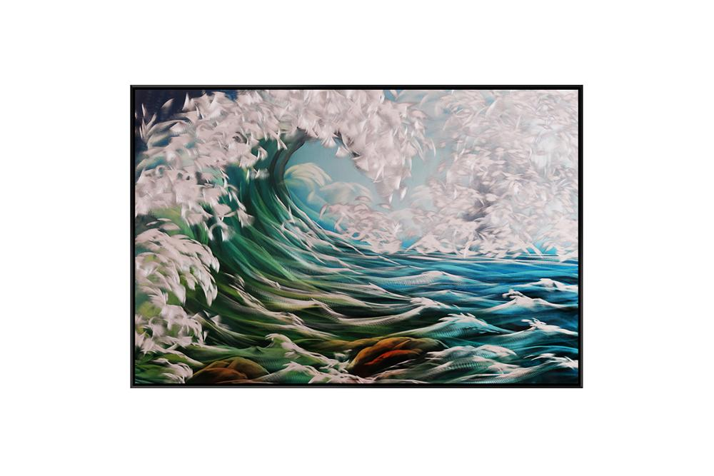 Luvurwall Waves Metal Wall Art, Metal Wall Art - Luvurwall