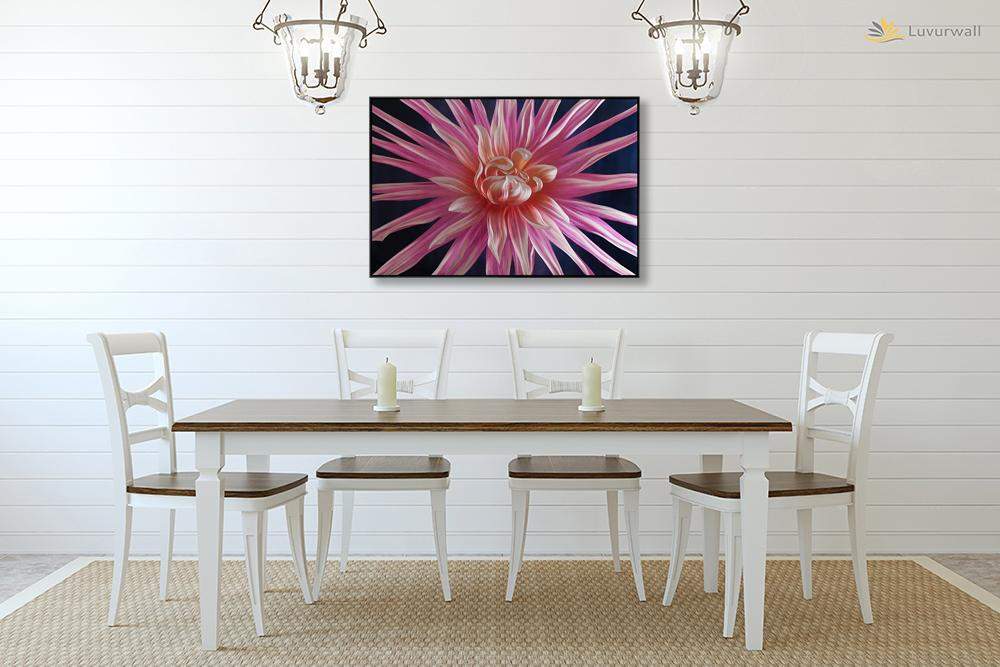 Luvurwall Purple Flower Metal Wall Art, Metal Wall Art - Luvurwall