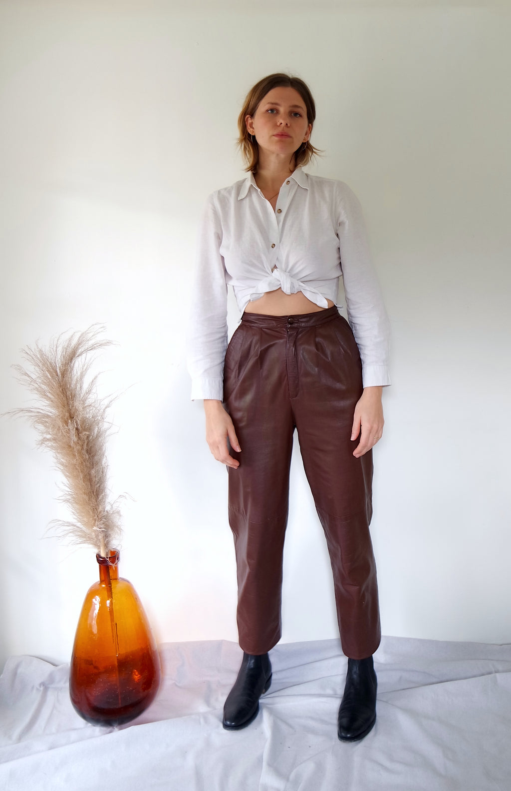 Mahogany Leather Pant