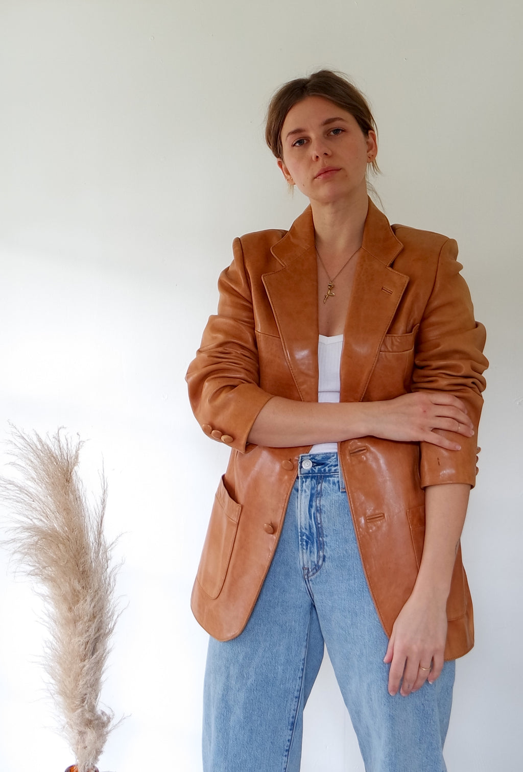 Chestnut Leather Jacket