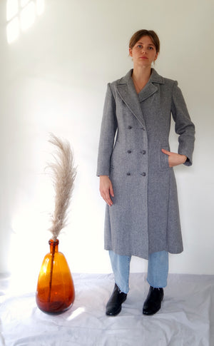 Grey Wool Dress Coat