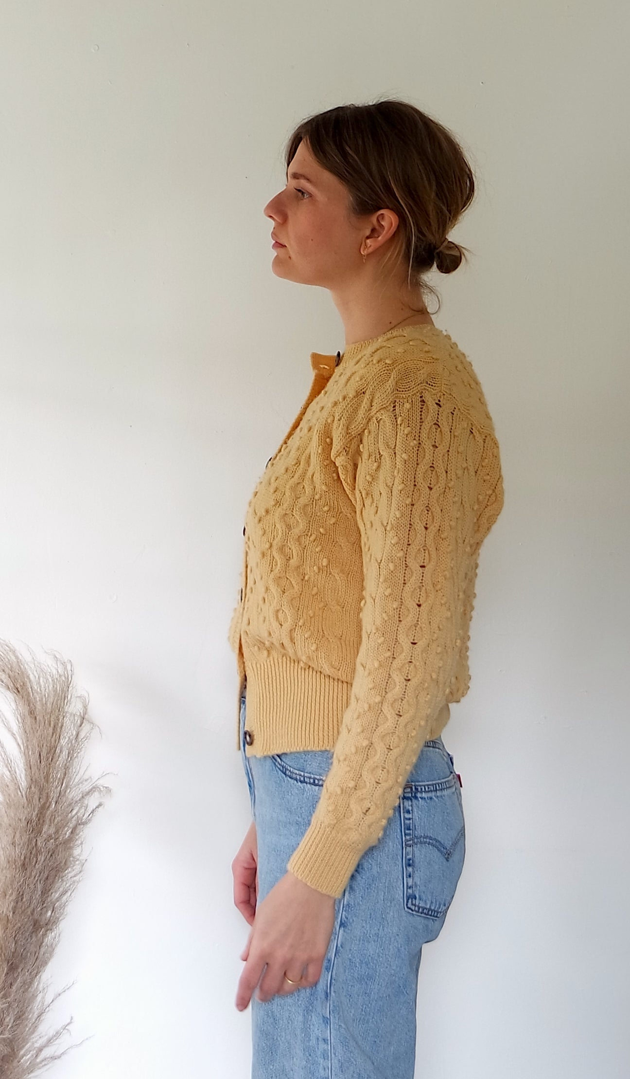 Buttercream Cable Knit Sweater