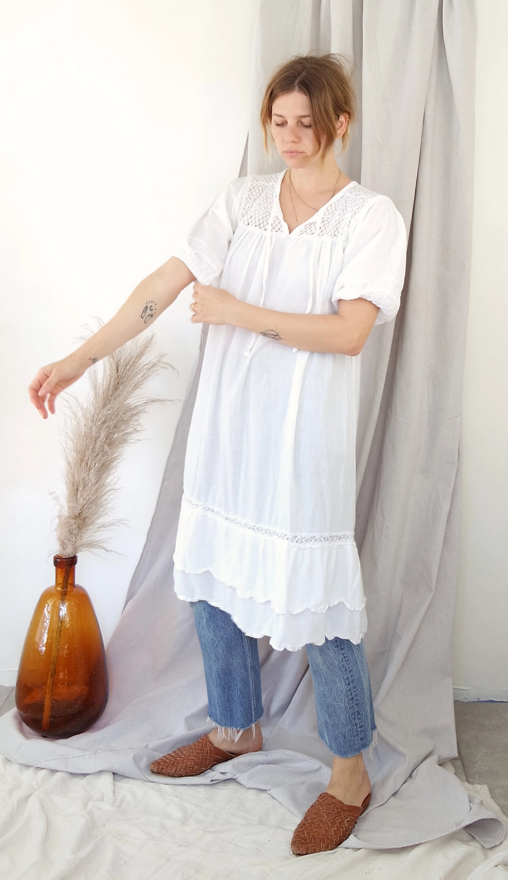 White Cotton Day Dress