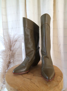 Army Green Calf Boot