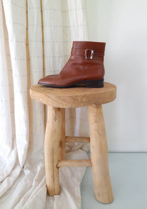 Cognac Leather Boots
