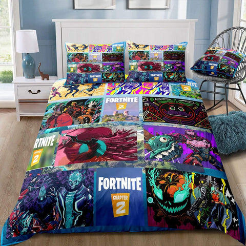 CHAP2S1 - Style14 / Twin 3 Piece Set Fortnite Season 11 Bedding Duvet Cover Sets