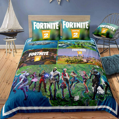 Image of CHAP2S1 - Style15 / Twin 3 Piece Set Fortnite Season 11 Bedding Duvet Cover Sets