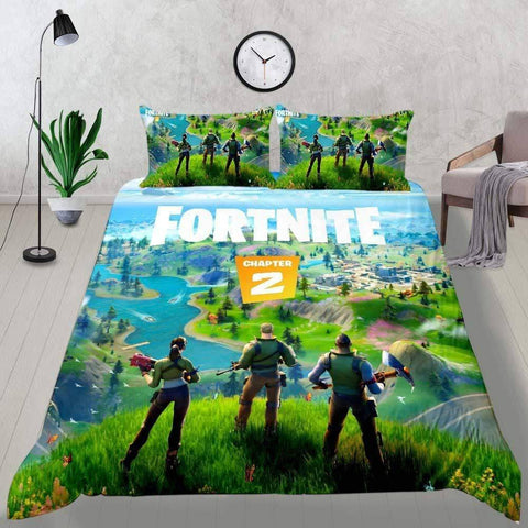Image of CHAP2S1 - Style3 / Twin 3 Piece Set Chapter 2 Fortnite Bedding Duvet Cover Sets