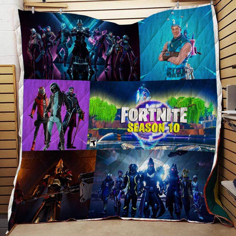 Image of F1 Quilt Blanket / US Twin Fortnite Custom Quilt Blankets