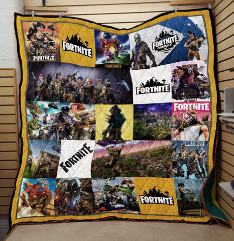 Image of F4 Quilt Blanket / US Twin Fortnite Custom Quilt Blankets