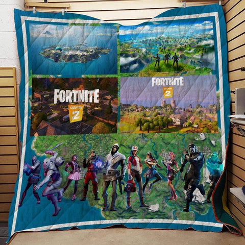 Image of Fortnite Custom Quilt Blankets