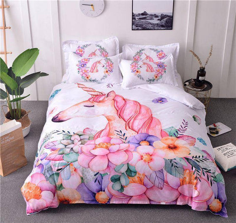 Magical / Twin 3 Piece Set Magical Unicorn Bedding Set