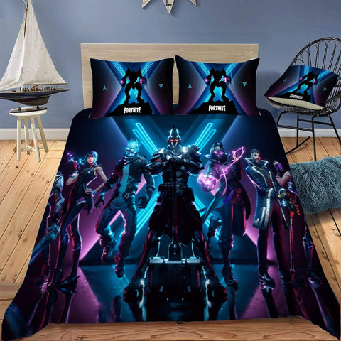Season 10 Style 1 / Twin 3 Piece Set The Original Fortnite Bedding Duvet Cover Sets