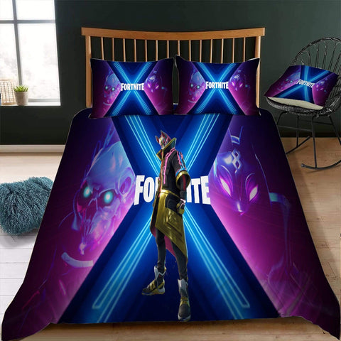 Season 10 Style 3 / Twin 3 Piece Set The Original Fortnite Bedding Duvet Cover Sets