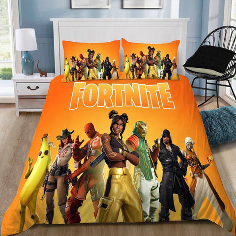 Season 8 Team / Twin 3 Piece Set Original Fortnite Bedding Duvet Cover Sets