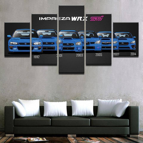 Size1 / Unframed with Dates Subaru Impreza WRX STi Generations