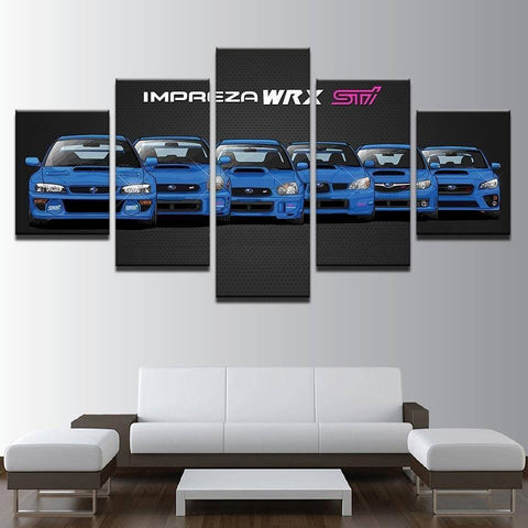 Size1 / Unframed without Dates Subaru Impreza WRX STi Generations