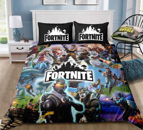Team 2 / Twin 3 Piece Set Original Fortnite Bedding Duvet Cover Sets