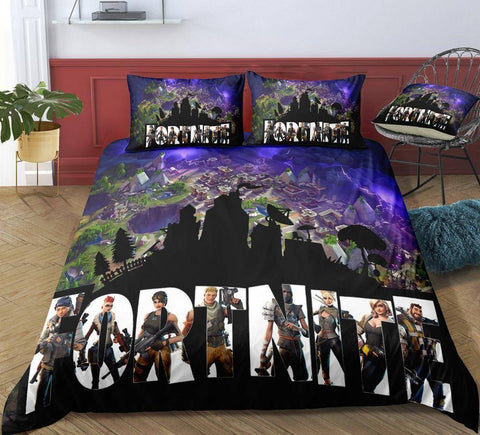 Image of Topdown / Twin 3 Piece Set Original Fortnite Bedding Duvet Cover Sets