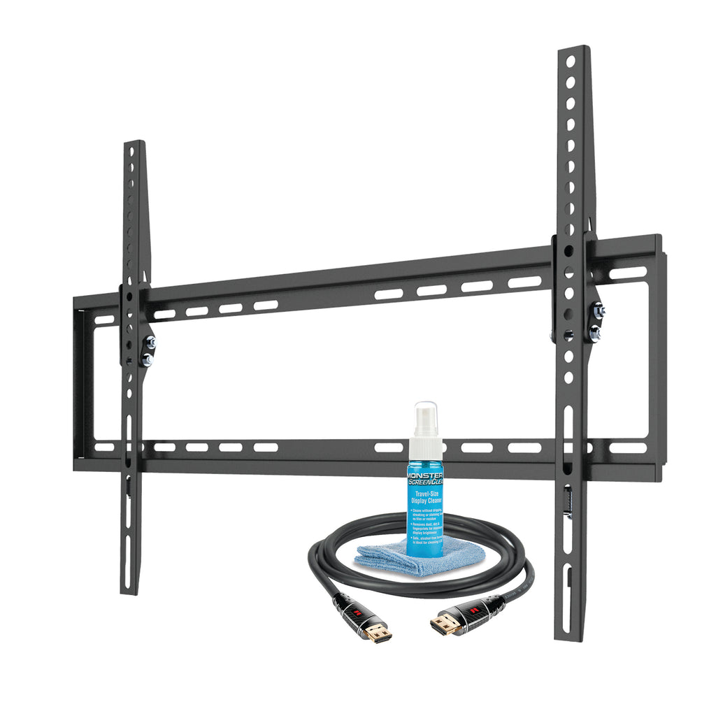 "Tilt TV Wall Mount Kit (Mount, HDMI, Screen Cleaner) For 42"" to 75"" TVs up to 75lbs (MT643)"