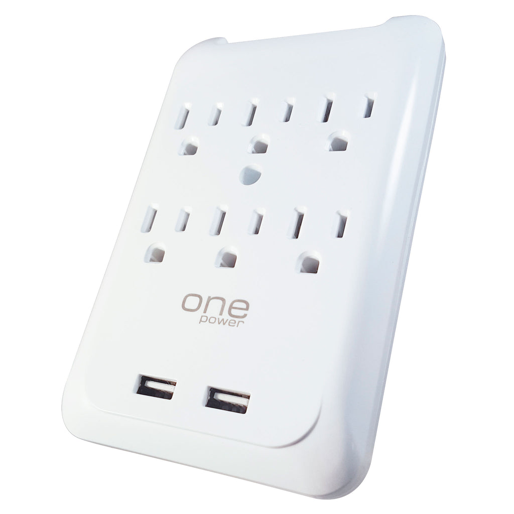 6 Outlet, 2 USB-A Surge Protector Wall Tap with 900 Joules Protection (PWS621)