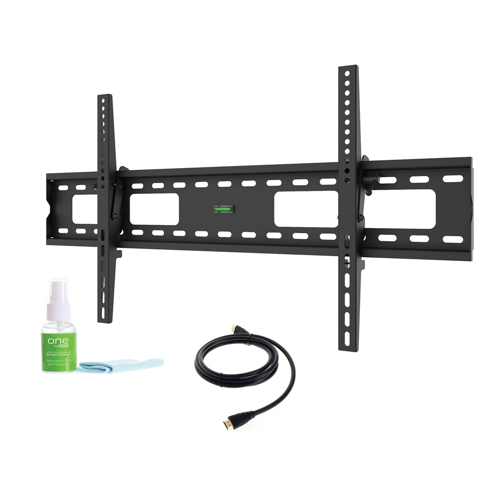 "Tilt TV Wall Mount Kit (Mount, HDMI, Screen Cleaner) For 50"" to 80"" TVs up to 165lbs (XLTMK)"