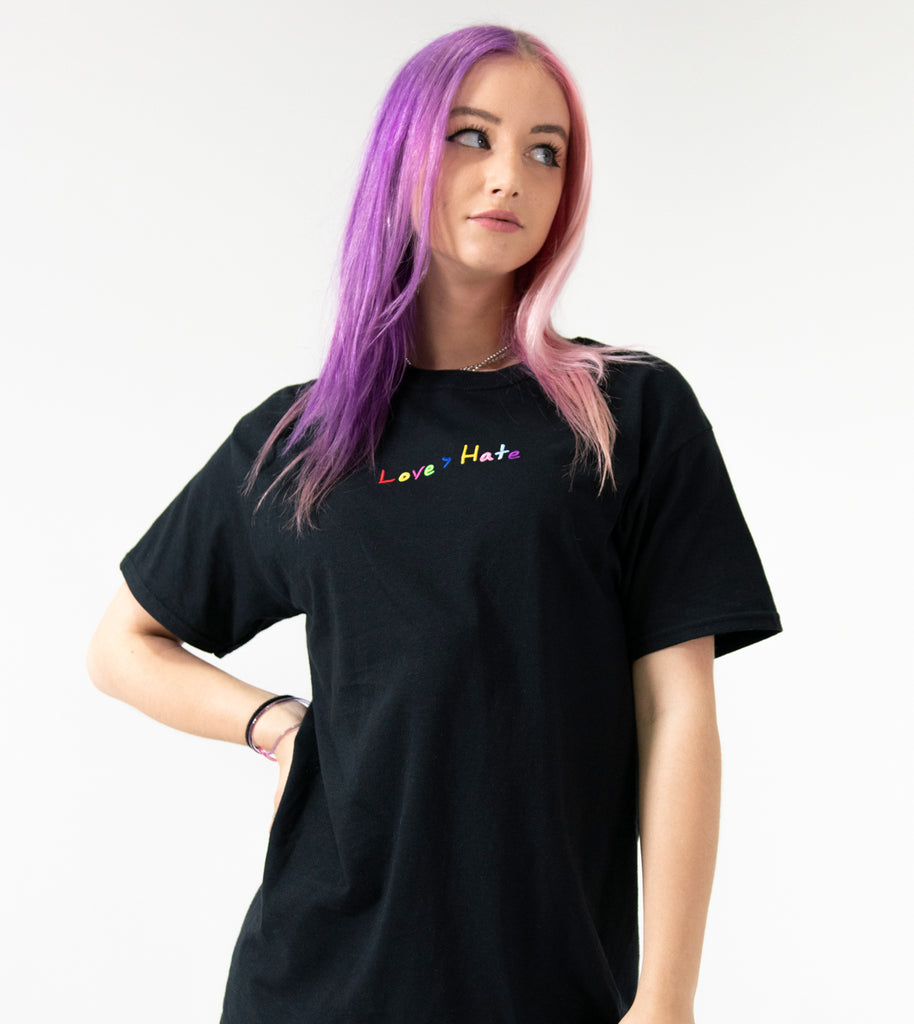Love > Hate Black Tee
