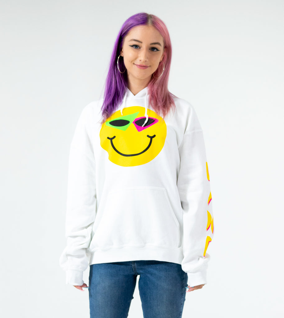 Smiley Hoodie White