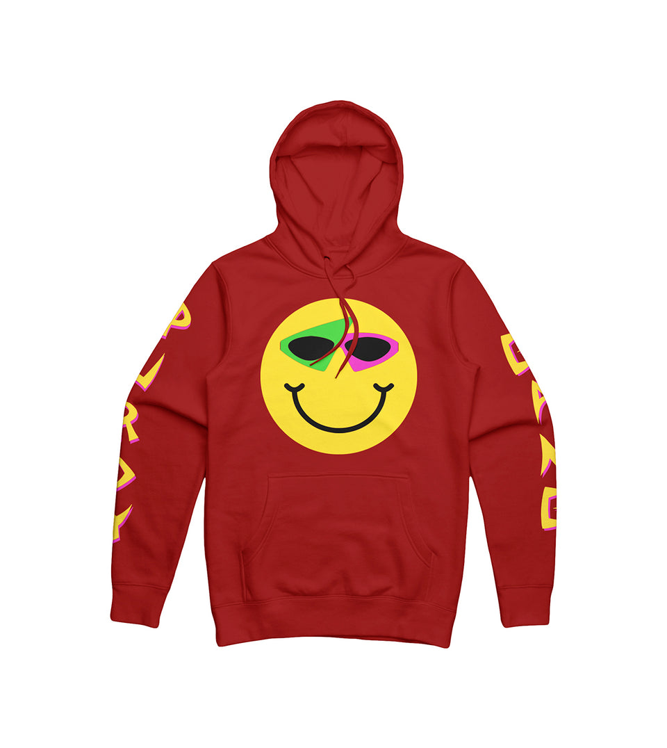 Smiley Hoodie Red