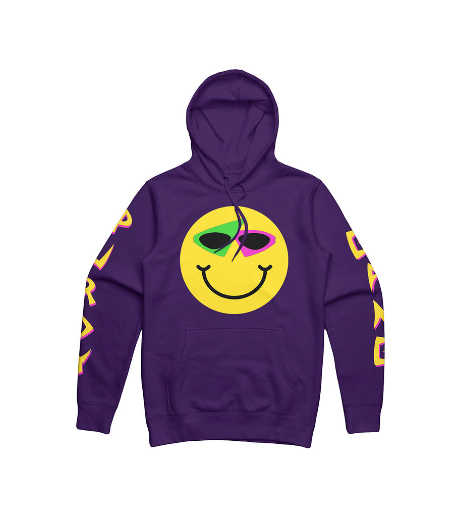 Smiley Hoodie Purple