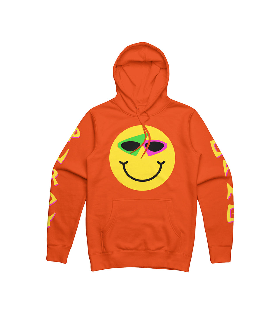 Smiley Hoodie Orange