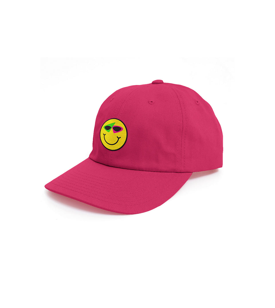 Smiley Hat Hot Pink