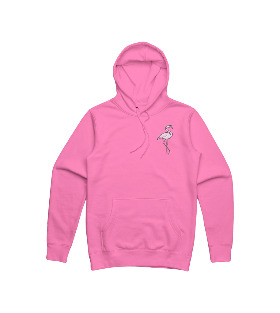 Purdy World Flamingo Hoodie Embroidered