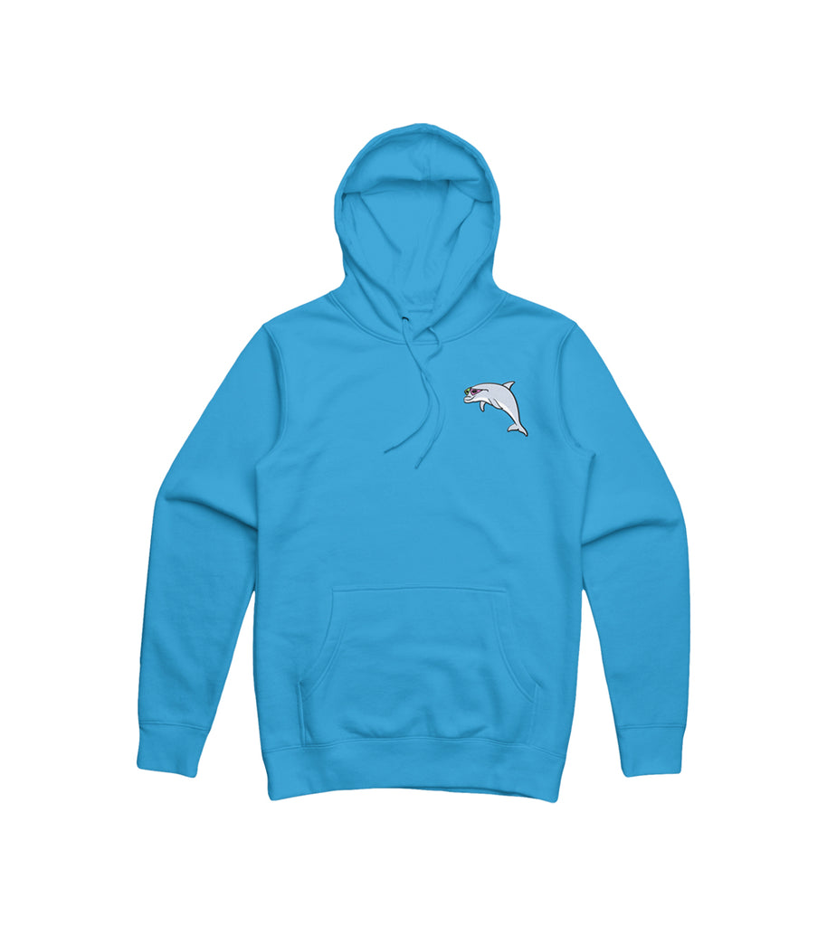 Purdy World Dolphin Hoodie Embroidered