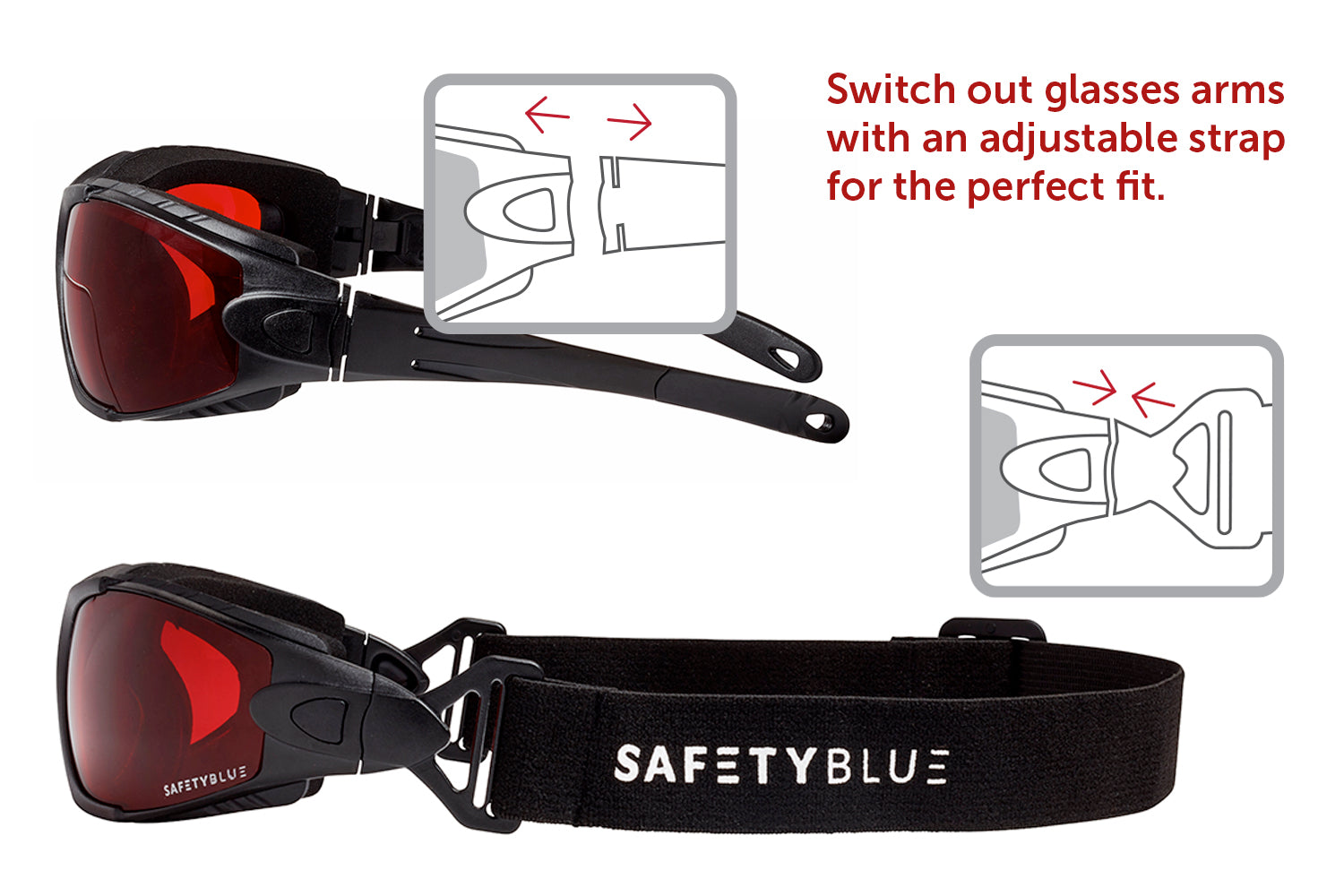 Sleep Savior® Deluxe - Red With Head Strap